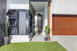 front of house with doors and windows with security screens in Townsville